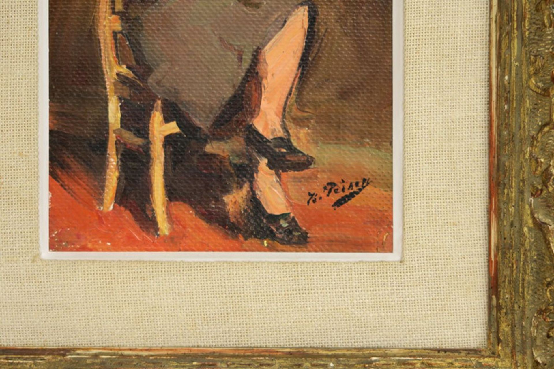 """Los 642 - PEISER KURT (1887 - 1962) olieverfschilderij op paneel : """"Jonge zittende vrouw"""" - [...]"""