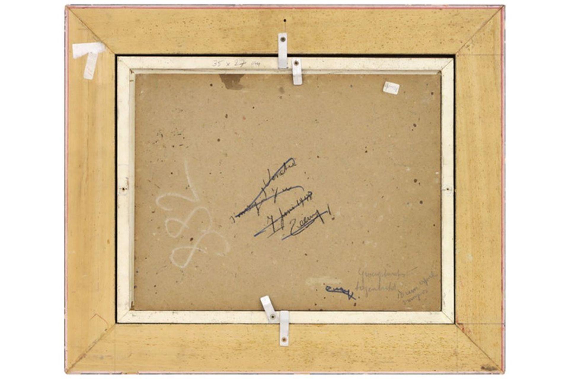 """Los 646 - TILLEUX JOZEF (1896 - 1978) olieverfschilderij op karton : """"Zicht van de Groenplaats [...]"""