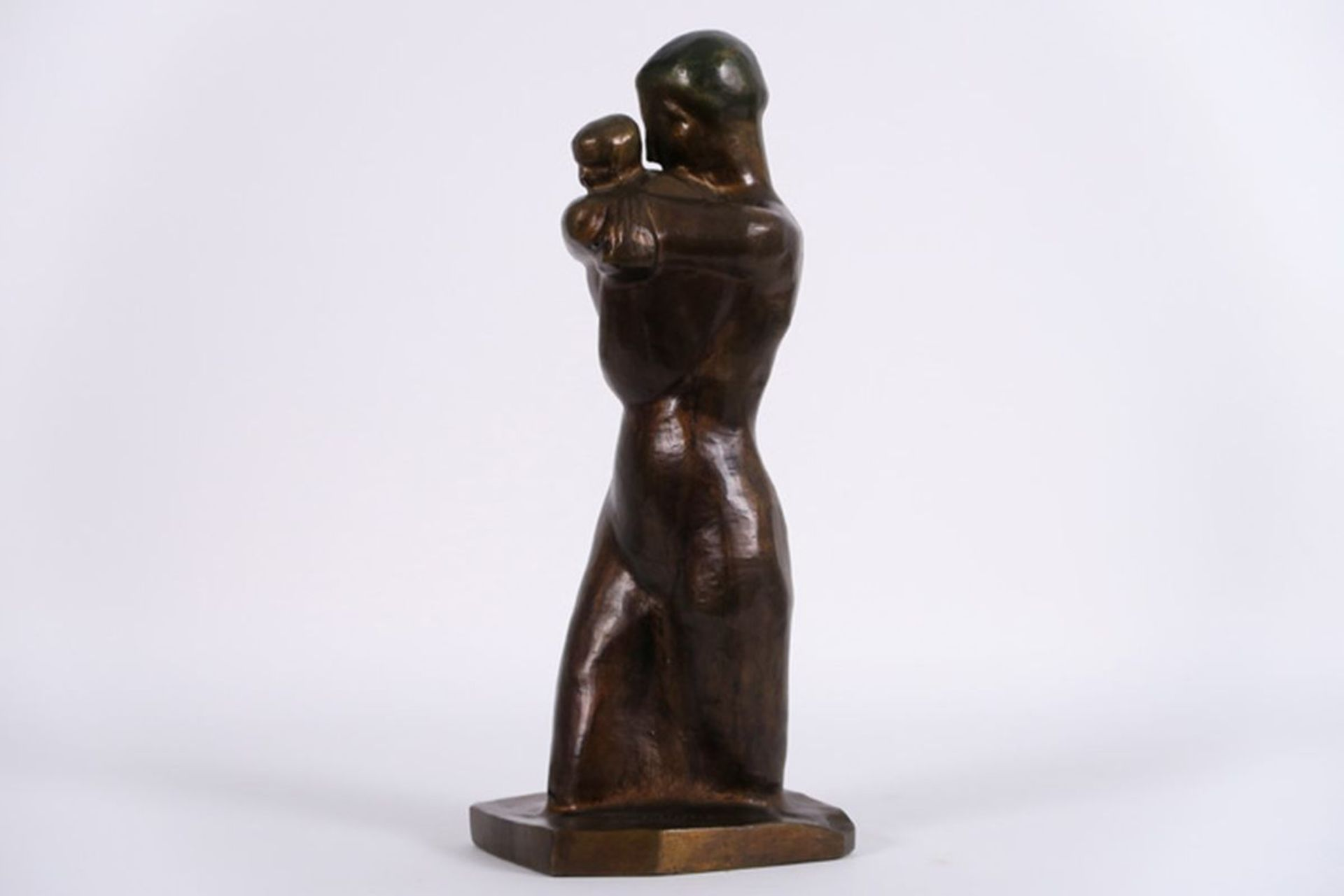 """Los 641b - MINNE GEORGE (1866 - 1941) sculptuur in brons (posthume gieting) : """"Maternité"""" - [...]"""