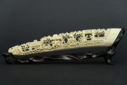"""antique Chinese """"animated Lanscape"""" sculpture in ivory - - Antieke [...]"""