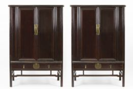 pair of antique Chinese Qing dynasty cabinets in lacquered wood - - CHINA - [...]