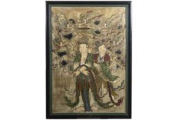 "Chinese Ming Dynasty ""Celestial gods"" fresque (on panel) - - CHINA - [...]"