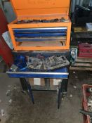 ROLLER CAB AND TOP BOX TOOL CHEST WITH CONTENTS