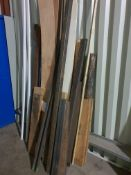 VARIOUS LENGTHS OF METAL AND WOOD