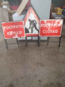 3 X ROAD SIGNS