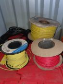 VARIOUS CABLES AND WIRE