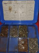 CONTAINER OF SMALL SCREWS AND WASHERS