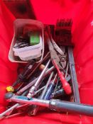 LARGE CONTAINER OF MIXED TOOLS