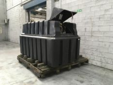 2,500 litres polyethylene bunded red diesel tank with pump