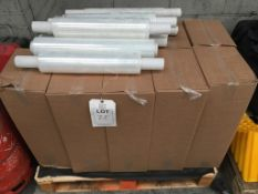 A pallet of shrink wrap