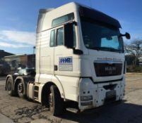 MAN TGX 26.480, XXL cab, 6x2/2 BLS tractor unit, Registration number: CE62 KXM, DOR: 17/11/2012,