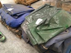 Two pallets of tarpaulin sheets