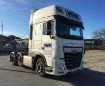DAF FTG510XF super space, automatic, 6x2 mid lift twin steer, Euro 6 tractor unit, Registration