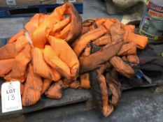 A pallet of lifting slings. Please note: This lot has no record of Thorough Examination. The