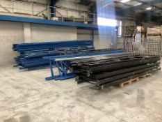 A quantity of dismantled pallet racking comprising: 32x 6m uprights, 25x 5m uprights, 10x 4.5m...