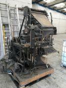 Linotype model 4 printing press no. ASIXPR