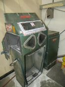 Guyson Super 2 blast cleaning cabinet Serial no. T2X1472 (3 phase plug) c/w Guyson DC41 extraction