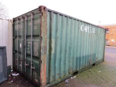 Shipping container 20' x 8' x 8.5' 33.2m³ (note collection last day of clearance only Wednesday