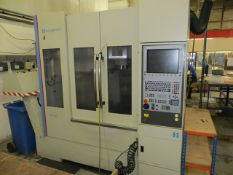 Hardinge Bridgeport XR760 CNC vertical machining centre with Heidenhain control, residue discharge