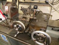 Hardinge HC3 turret lathe with workbench. *A work Method Statement and Risk Assessment must be