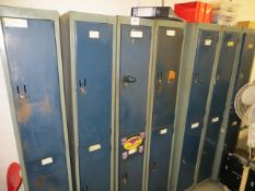 Twelve 2 section steel personal lockers