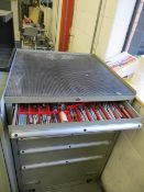 Six drawer tool chest c/w large quantity of tooling, cutters, & clamping accessories as lotted