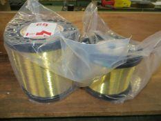 Reel of GF AC Brass LP500 wire & a reel of GF AC Brass LP900 wire