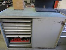 Double sided eleven drawer tool chest c/w tooling to include various tool holders & cutters as
