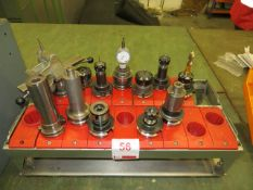 Two tool holding units c/w 12 tool holders suitable for jig borer