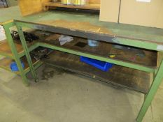 Twelve various steel framed workbenches as lotted (excluding contents) *not to be collected until