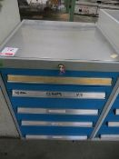Bott 5 drawer tool chest c/w contents to include clamps, parallels & jaws