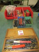 Various drill & milling cutters as lotted