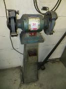 Draper GHD200 heavy duty double ended bench grinder on stand 240v