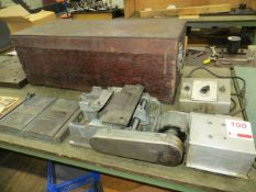 Unison model C grinding machine c/w power supply & wooden box