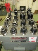 Bridgeport tool holding unit c/w 16 various BT40 tool holders