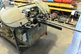 Unbadged horizontal bandsaw, approx 200mm capacity. *NB: this item has no CE marking. The