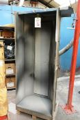 Steel, stand alone vertical spray booth, approx 2m x 900mm, with flexi hose extraction ducting