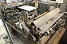 Oliver powered double end straight folding machine, max bend width 1400mm, approx max bend width