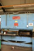 Hydrabend 50 ton x 8ft hydraulic downstroking press brake, serial no: 669, with individual punch