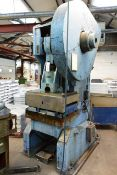 Rhodes 75 ton mechanical inclinable adjustable stroke power press, model RF75, serial no: 16153...