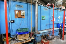 Airflow Product Finishing throughfeed 2 stage pre-treatment plant, with control and extraction to