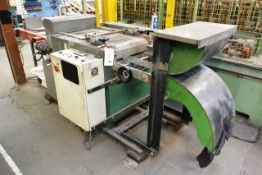 Carbonini Glie straightening and cut to length machine, approx max width 450mm, with powered outfeed