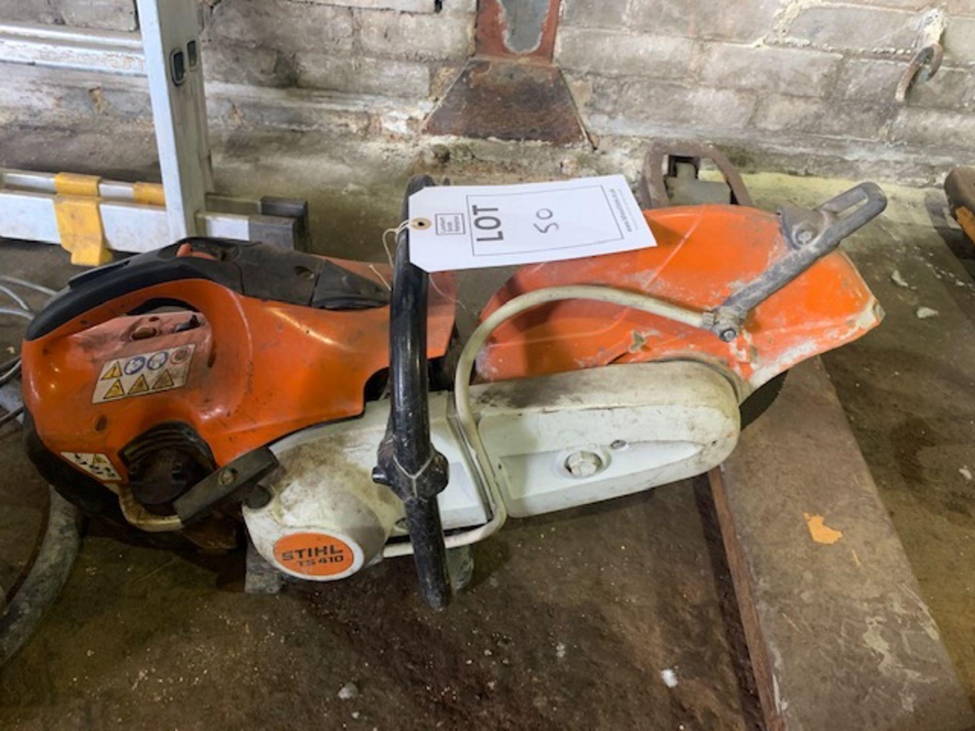 Lot 50 - Stihl TS 410 petrol cut off saw with 300mm cutting disc