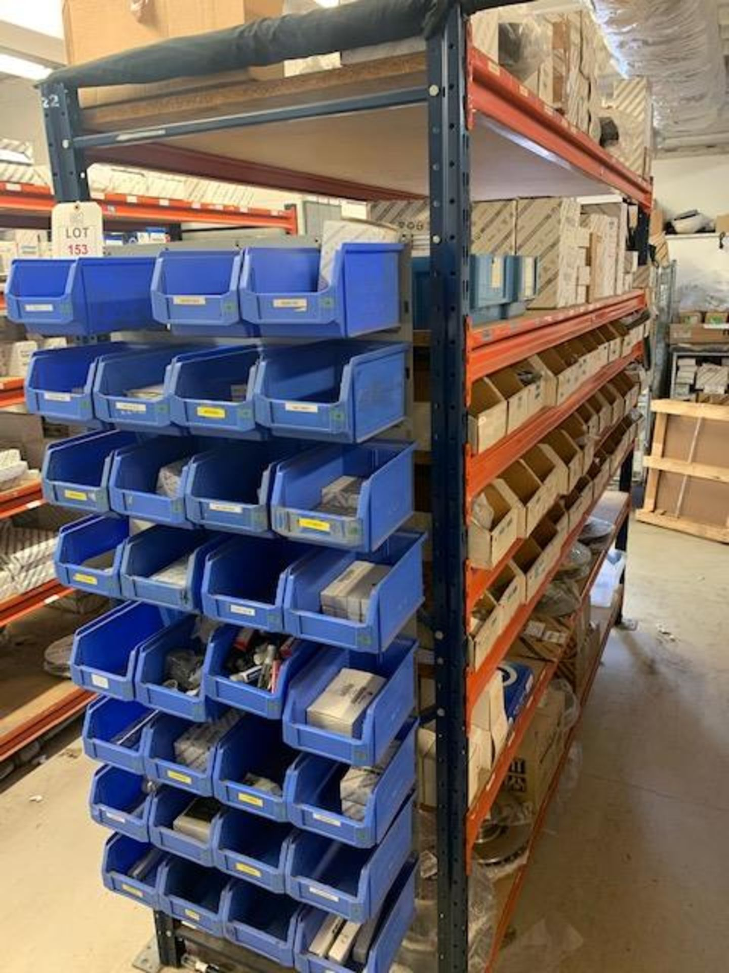 Lot 153 - Rack & Contents to include Fiat & Alfa fuel, oil & air filters, spark & glow plugs, gaskets,