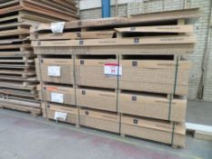Approximately 78 mixed melamine faced chipboard panels