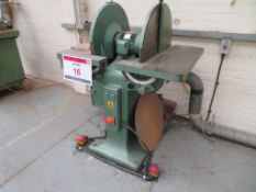 Phillipson BP vertical disk sander. NB. A work Method Statement and Risk Assessment must be provided