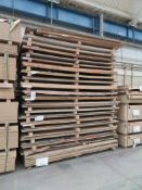 Approximately 72 mixed melamine faced chipboard panels