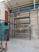 One bay of warehouse racking. NB. A work Method Statement and Risk Assessment must be provided by