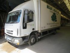 Iveco EuroCargo MLC75E18 E5, short wheel base, day cab, box lorry with 1000 kg capacity DEL tail
