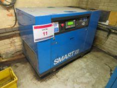 Abac Smart 2508 plus 8 bar compressor, Model: SM25, Serial No. 1441840001, with Masteria air dryer